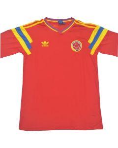 Maglia Colombia 1990 Valderrama con o senza nome sulle spalle o a scelta altro n